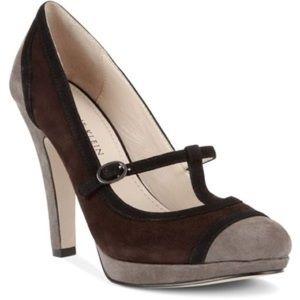 Anne Klein Suede Color Block heels • 6